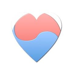 Taekwondo Sign Red Blue Heart Magnet by Alisyart