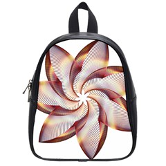 Prismatic Flower Line Gold Star Floral School Bags (small)  by Alisyart