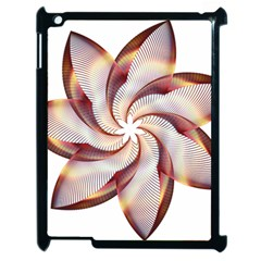Prismatic Flower Line Gold Star Floral Apple Ipad 2 Case (black) by Alisyart
