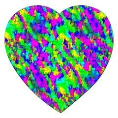 Red Black Gray Background Jigsaw Puzzle (heart) by Simbadda