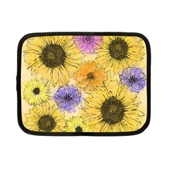 Multi Flower Line Drawing Netbook Case (small)  by Simbadda