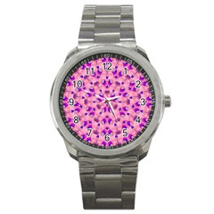Mandala Tiling Sport Metal Watch by Simbadda