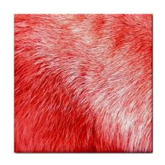 Pink Fur Background Tile Coasters by Simbadda
