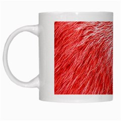 Pink Fur Background White Mugs by Simbadda