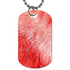 Pink Fur Background Dog Tag (two Sides) by Simbadda