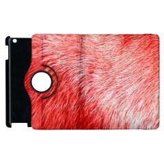 Pink Fur Background Apple Ipad 2 Flip 360 Case by Simbadda