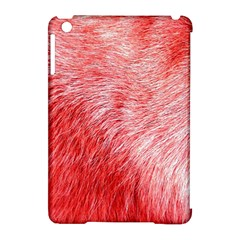 Pink Fur Background Apple Ipad Mini Hardshell Case (compatible With Smart Cover) by Simbadda