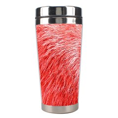 Pink Fur Background Stainless Steel Travel Tumblers by Simbadda