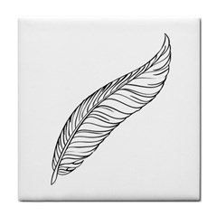 Feather Line Art Face Towel by Simbadda