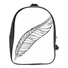 Feather Line Art School Bags (xl)  by Simbadda