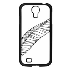 Feather Line Art Samsung Galaxy S4 I9500/ I9505 Case (black) by Simbadda