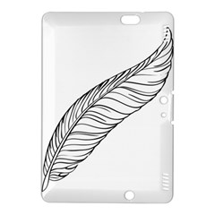 Feather Line Art Kindle Fire Hdx 8 9  Hardshell Case by Simbadda