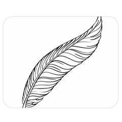 Feather Line Art Double Sided Flano Blanket (medium)  by Simbadda
