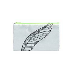 Feather Line Art Cosmetic Bag (xs) by Simbadda