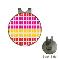 Squares Pattern Background Colorful Squares Wallpaper Hat Clips With Golf Markers by Simbadda