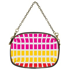 Squares Pattern Background Colorful Squares Wallpaper Chain Purses (one Side)  by Simbadda