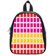 Squares Pattern Background Colorful Squares Wallpaper School Bags (small)  by Simbadda