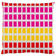 Squares Pattern Background Colorful Squares Wallpaper Large Cushion Case (one Side) by Simbadda