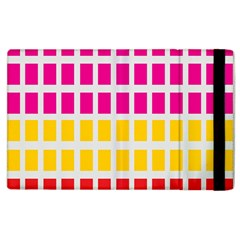 Squares Pattern Background Colorful Squares Wallpaper Apple Ipad 3/4 Flip Case by Simbadda