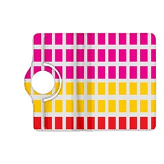 Squares Pattern Background Colorful Squares Wallpaper Kindle Fire Hd (2013) Flip 360 Case by Simbadda