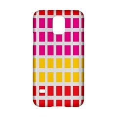 Squares Pattern Background Colorful Squares Wallpaper Samsung Galaxy S5 Hardshell Case  by Simbadda