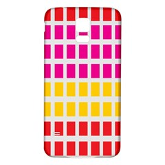 Squares Pattern Background Colorful Squares Wallpaper Samsung Galaxy S5 Back Case (white) by Simbadda