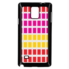 Squares Pattern Background Colorful Squares Wallpaper Samsung Galaxy Note 4 Case (black) by Simbadda