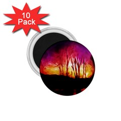 Fall Forest Background 1 75  Magnets (10 Pack)  by Simbadda