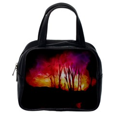 Fall Forest Background Classic Handbags (one Side) by Simbadda