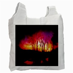 Fall Forest Background Recycle Bag (two Side)  by Simbadda