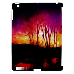 Fall Forest Background Apple Ipad 3/4 Hardshell Case (compatible With Smart Cover) by Simbadda
