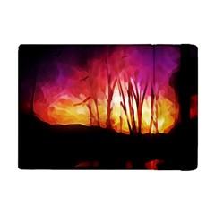 Fall Forest Background Apple Ipad Mini Flip Case by Simbadda