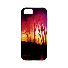 Fall Forest Background Apple Iphone 5 Classic Hardshell Case (pc+silicone) by Simbadda