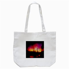 Fall Forest Background Tote Bag (white) by Simbadda