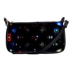 Geometric Line Art Background In Multi Colours Shoulder Clutch Bags by Simbadda