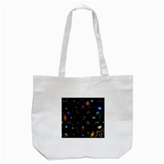 Geometric Line Art Background In Multi Colours Tote Bag (white) by Simbadda