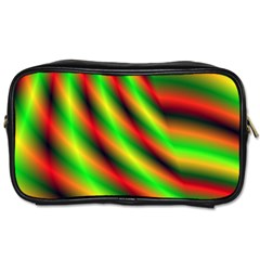 Neon Color Fractal Lines Toiletries Bags by Simbadda