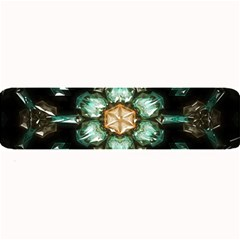 Kaleidoscope With Bits Of Colorful Translucent Glass In A Cylinder Filled With Mirrors Large Bar Mats by Simbadda