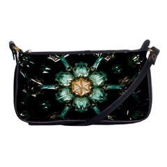 Kaleidoscope With Bits Of Colorful Translucent Glass In A Cylinder Filled With Mirrors Shoulder Clutch Bags by Simbadda
