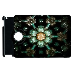 Kaleidoscope With Bits Of Colorful Translucent Glass In A Cylinder Filled With Mirrors Apple Ipad 3/4 Flip 360 Case by Simbadda