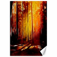 Artistic Effect Fractal Forest Background Canvas 24  X 36