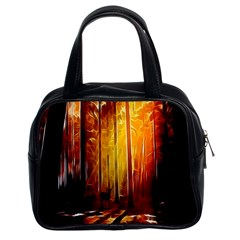 Artistic Effect Fractal Forest Background Classic Handbags (2 Sides) by Simbadda