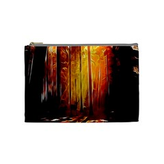 Artistic Effect Fractal Forest Background Cosmetic Bag (medium)  by Simbadda
