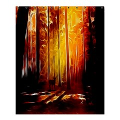 Artistic Effect Fractal Forest Background Shower Curtain 60  X 72  (medium)  by Simbadda