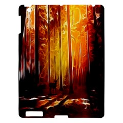 Artistic Effect Fractal Forest Background Apple Ipad 3/4 Hardshell Case by Simbadda