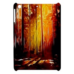 Artistic Effect Fractal Forest Background Apple Ipad Mini Hardshell Case by Simbadda