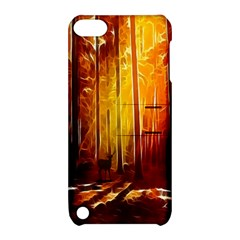 Artistic Effect Fractal Forest Background Apple Ipod Touch 5 Hardshell Case With Stand by Simbadda
