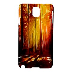 Artistic Effect Fractal Forest Background Samsung Galaxy Note 3 N9005 Hardshell Case by Simbadda
