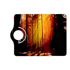 Artistic Effect Fractal Forest Background Kindle Fire Hd (2013) Flip 360 Case by Simbadda