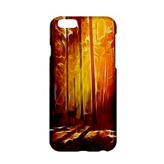 Artistic Effect Fractal Forest Background Apple Iphone 6/6s Hardshell Case by Simbadda